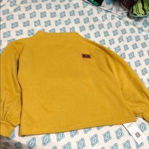 Badge Patch Lantern Sleeve Sweatshirt